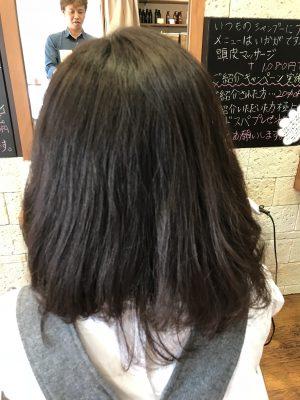 ご新規さまが今回も髪のお悩みでご来店されました。